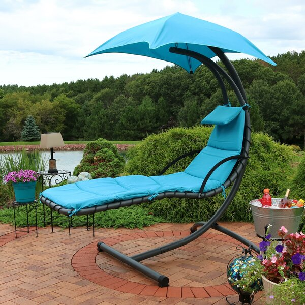 Shania Floating Chaise Lounge Swing Chair with Cushion by Freeport Park Freeport Park