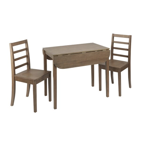 Henrik 3 Piece Drop Leaf Breakfast Nook Dining Set by Andover Mills
