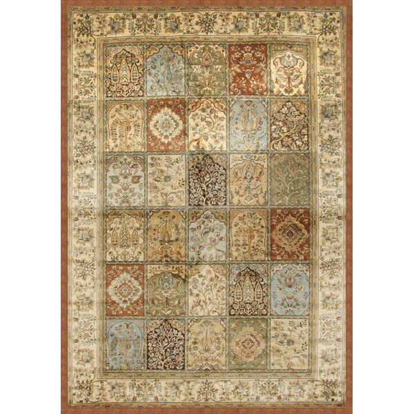 Beecroft Tan/Rust/Light Blue Area Rug by Darby Home Co
