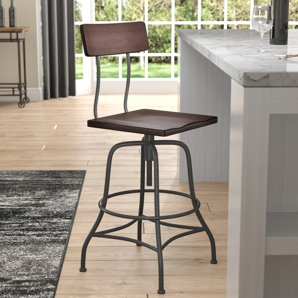 Tonto Adjustable Height Swivel Bar Stool by Trent Austin Design