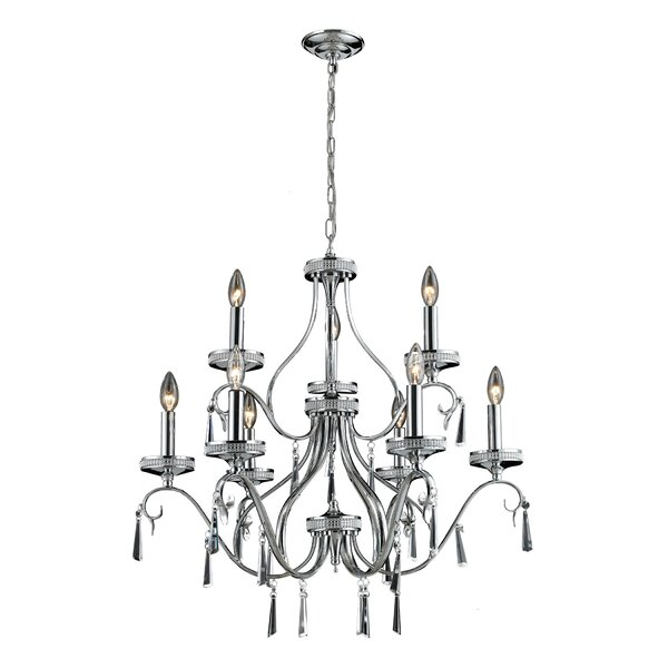 Lemond 9-Light Candle Style Classic / Traditional Chandelier by Astoria Grand Astoria Grand