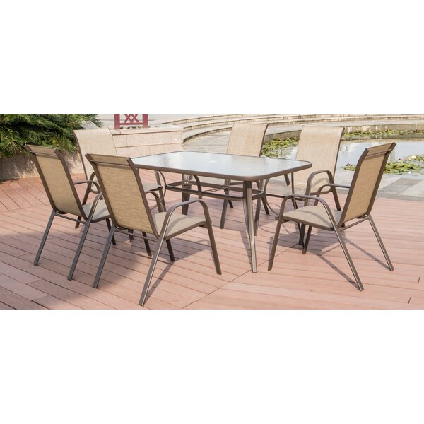 Semmes 7 Piece Dining Set by Ebern Designs