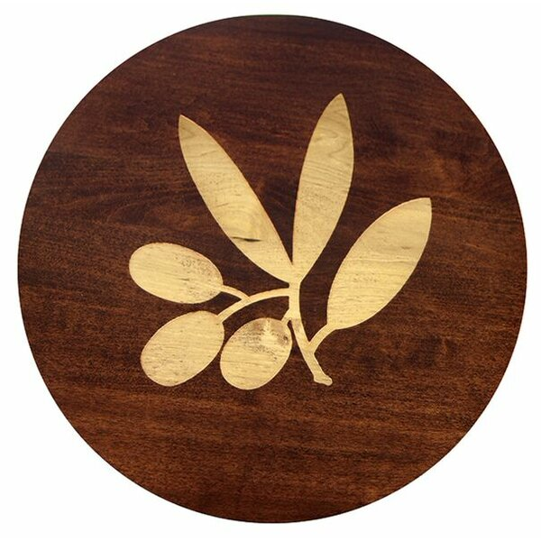 Artisan Woods Olive Branch Lazy Susan by Martins Homewares