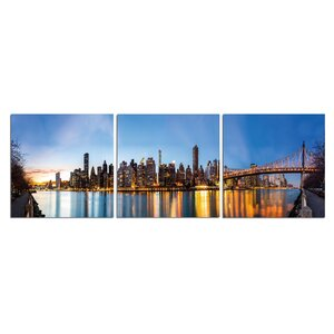 'Golden City' Photographic Print Multi-Piece Image on Wrapped Canvas by Latitude Run