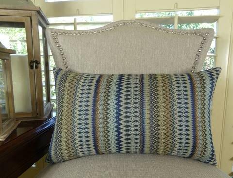 Zig Along Handmade Throw Pillow by Plutus Brands
