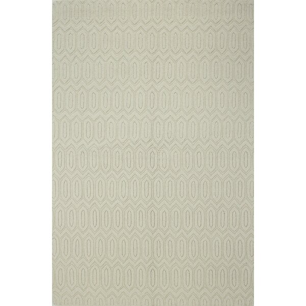 Adonis Hand-Woven Ivory Area Rug by Mercury Row
