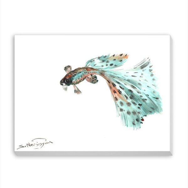 Guppy Fish 2 by Suren Nersisyan Painting Print on Gallery Wrapped Canvas by Americanflat