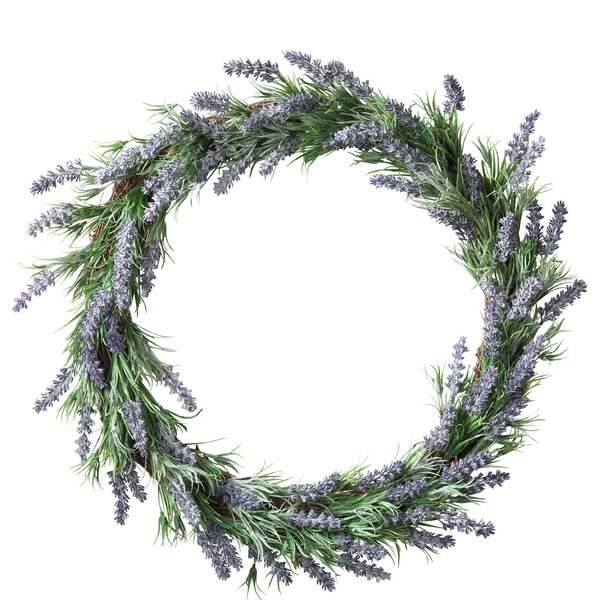 Lavender 20 Wreath by Gracie Oaks