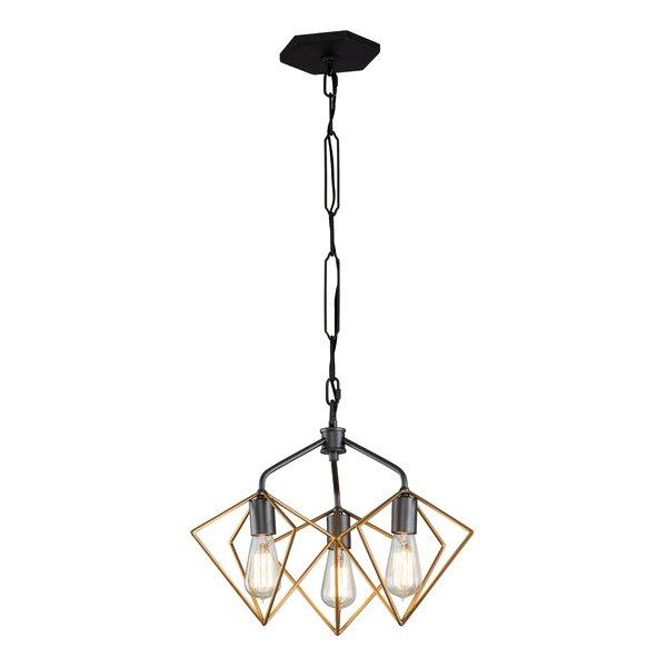 Jettie 3-Light Unique / Statement Geometric Chandelier by Wrought Studio Wrought Studio