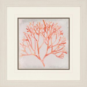 Watercolor Coral IV by Meaghe Framed Painting Print by Paragon