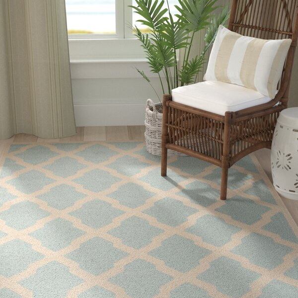 Cashion Aqua/Cream Area Rug by Longshore Tides