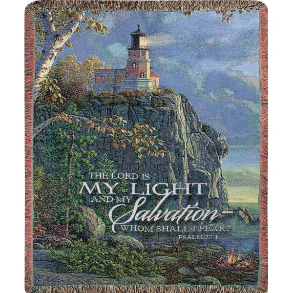 Guiding Light Tapestry Cotton Throw by Manual Woodworkers & Weavers