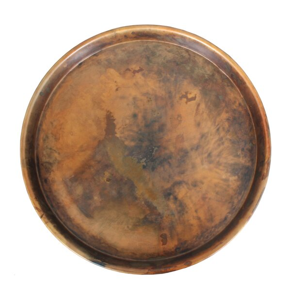 Prosper Iron Round Accent Tray by World Menagerie