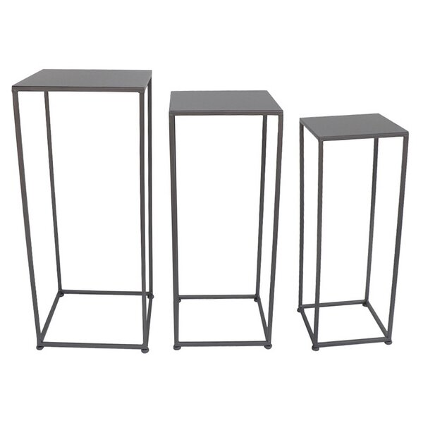 Metal 3 Piece Plant Stand Set by Three Hands Co.