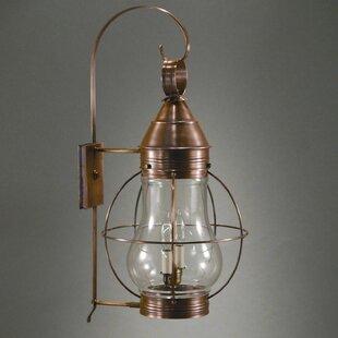 Best Onion 1-Light Outdoor Wall Lantern By Northeast Lantern