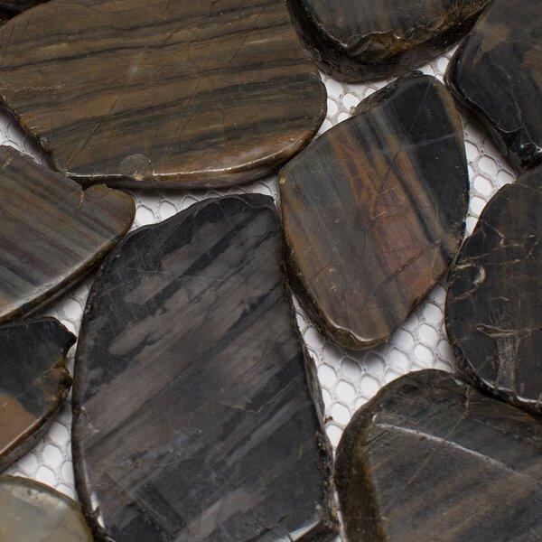 Rainforest Sliced Random Sized Natural Stone Pebble Tile