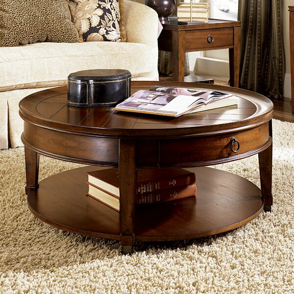 Langer Coffee Table With Tray Top By Millwood Pines