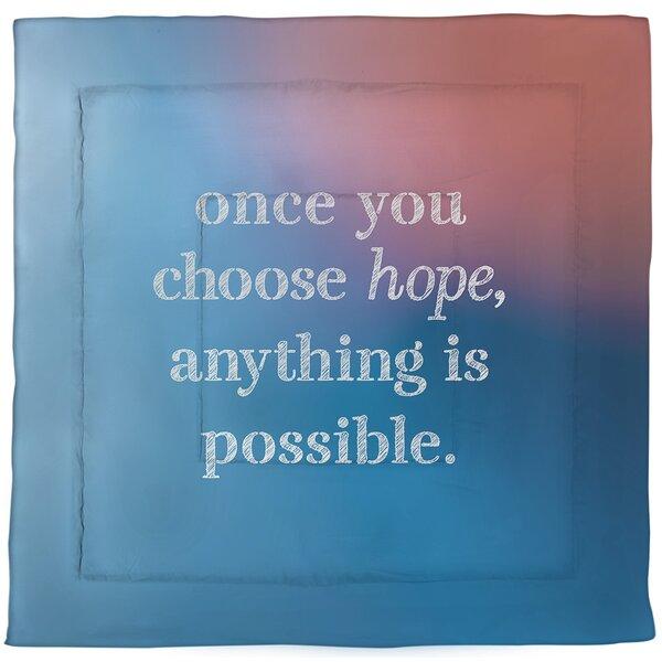 Choose Hope Quote Single Reversible Comforter