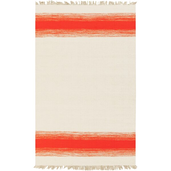Critchlow Beige/Poppy Area Rug by Wrought Studio