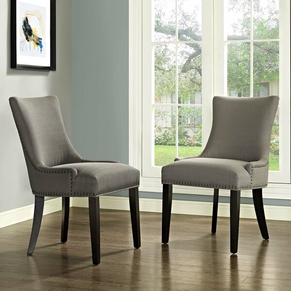 Best #1 Enfield Upholstered Dining Chair (Set Of 2) By Red Barrel Studio Today Only Sale