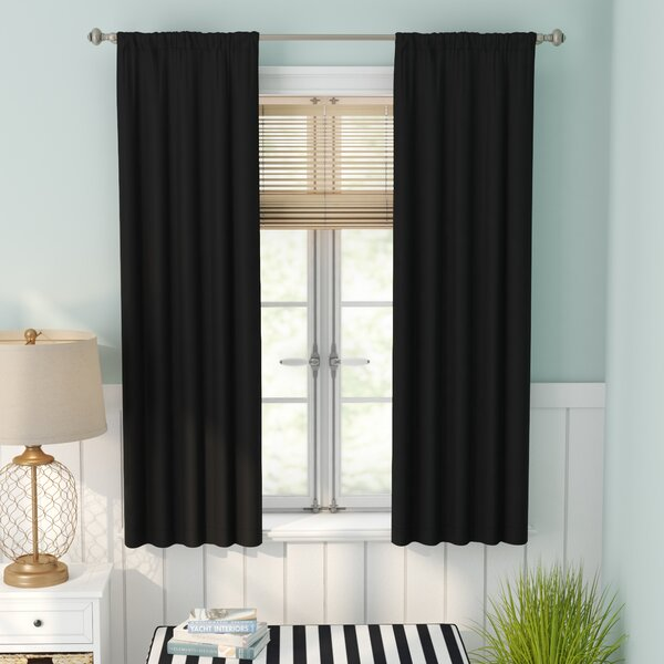 Evangelina Solid Room Darkening Thermal Rod Pocket Single Curtain Panel by Beachcrest Home