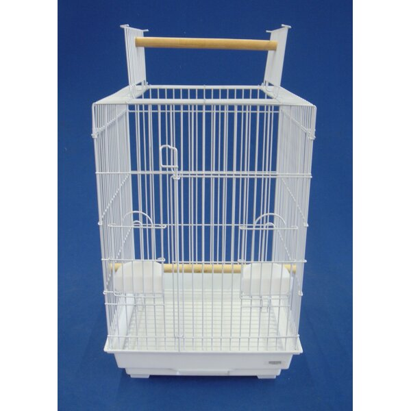 Open Top Small Parrot  Bird Cage by YML