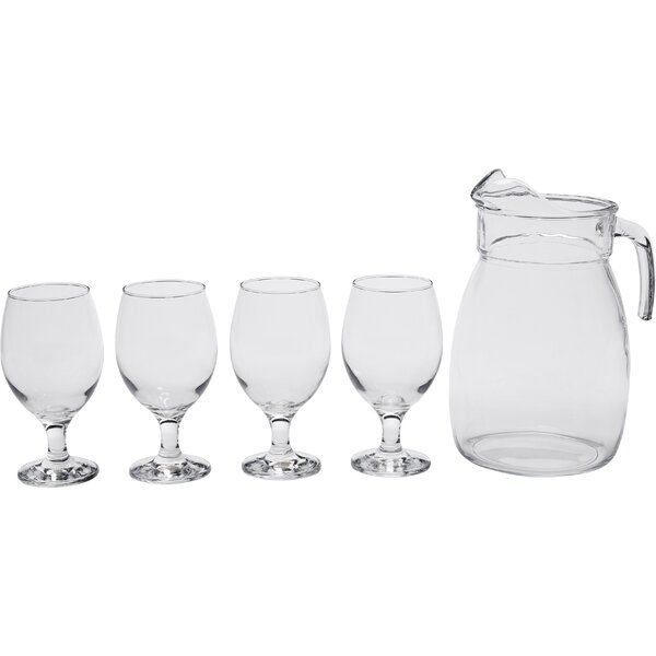 St. Lucia 5 Piece Pitcher Set by Circle Glass