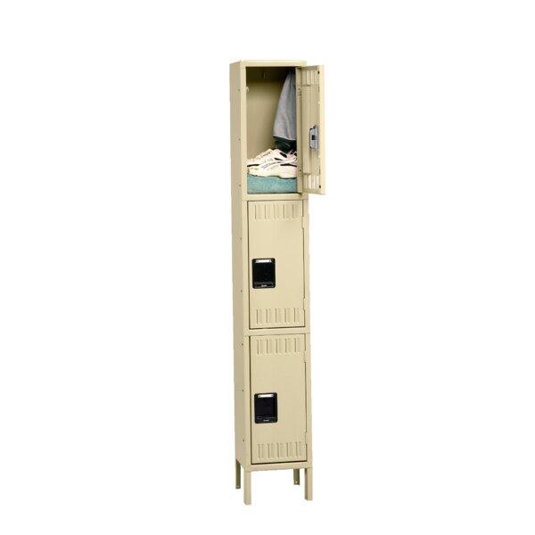 3 Tier 1 Wide School Locker by Tennsco Corp.