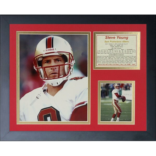 Steve Young - Portrait Framed Photographic Print by Legends Never Die