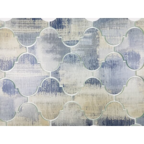 Nature Big Lantern 6x 6 Glass Tile in Blue/Gray by Abolos