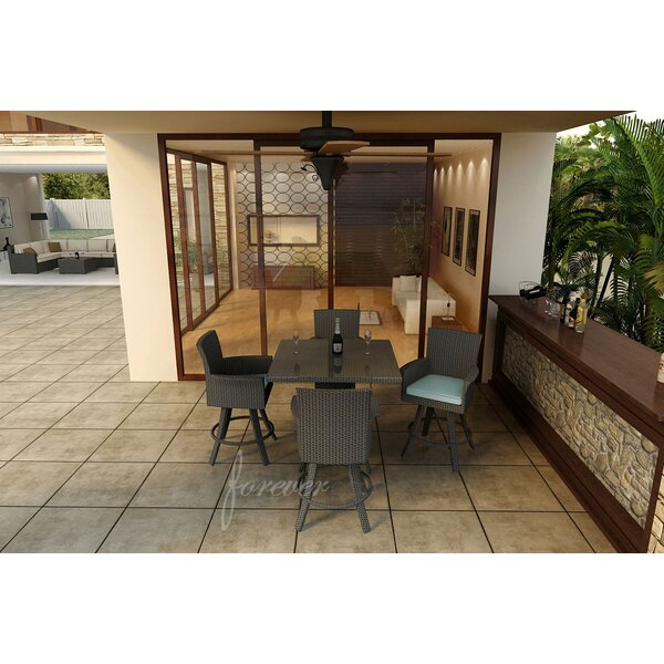 Hampton 5 Piece Bar Height Dining Set with Sunbrella Cushions by Forever Patio