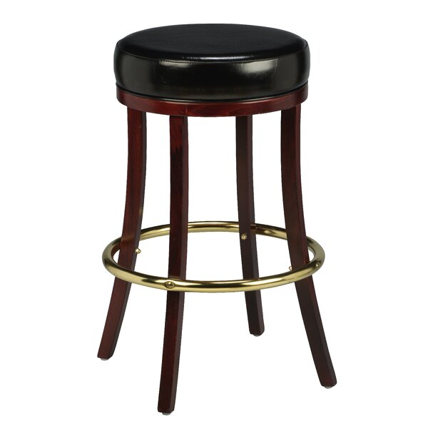 Amoroso Traditional Beechwood Backless Bar Stool by Red Barrel Studio