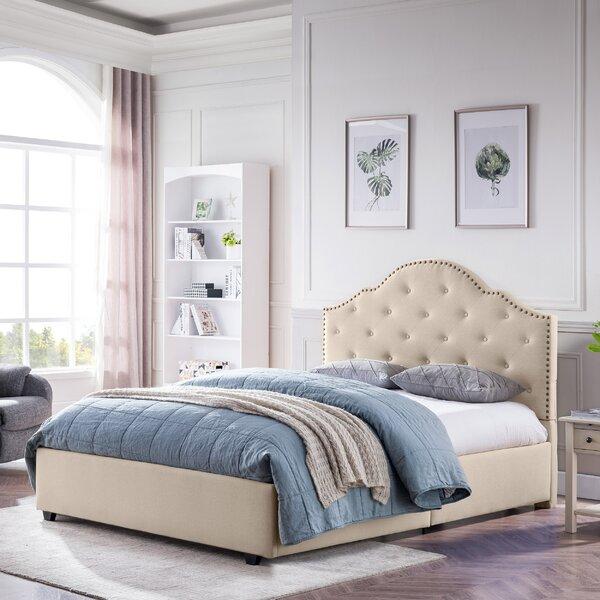 Plattville Queen Upholstered Platform Bed by Alcott Hill