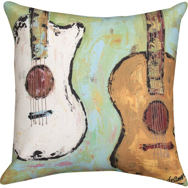 Strung Up Knife Edge Throw Pillow by Manual Woodworkers & Weavers