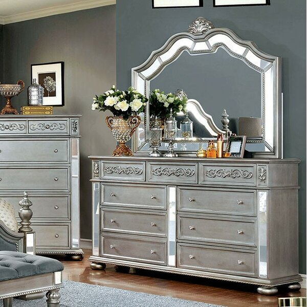 Gwendolyn 9 Drawer Dresser with Mirror by Rosdorf Park