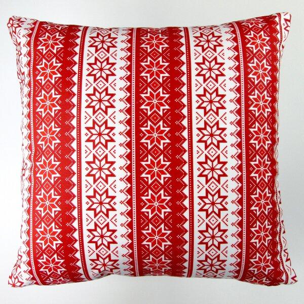 Christmas Stars Stripes Throw Pillow by Artisan Pillows