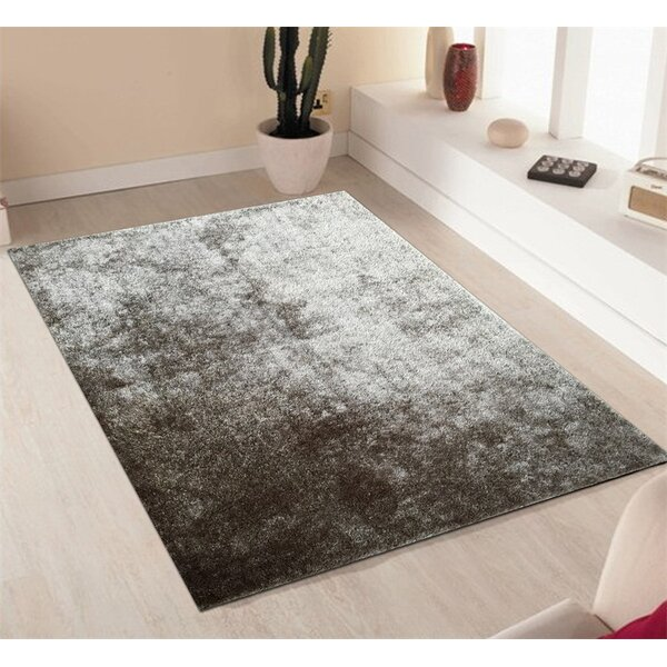 Amore Hand-Tufted Silver and Black Area Rug by Rug Factory Plus