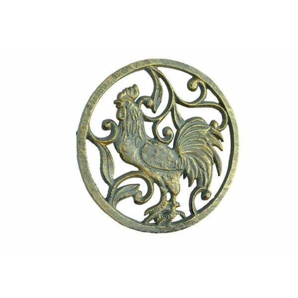 Rooster Cast Iron Trivet by August Grove
