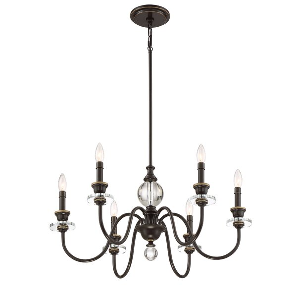 Ellisurg 6 - Light Candle Style Classic / Traditional Chandelier by Darby Home Co Darby Home Co