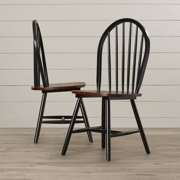 Bella Solid Wood Dining Chair (Set of 2) by August Grove