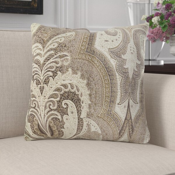 Junipero Damask Luxury Pillow by Canora Grey