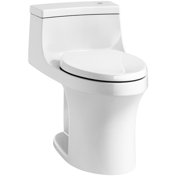 San Souci Impressions Souci Comfort Height One Piece Compact Elongated Touchless Toilet with Aquapiston Flushing Technology by Kohler