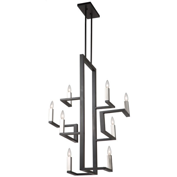 Urban Chic 8-Light Candle Style Geometric Chandelier By Artcraft Lighting
