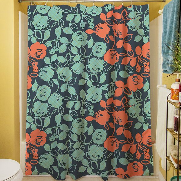 Anna Rose V Shower Curtain by Manual Woodworkers & Weavers
