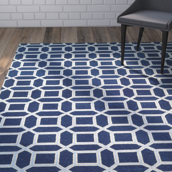 Lopes Hand Woven Wool Sapphire Area Rug by Brayden Studio