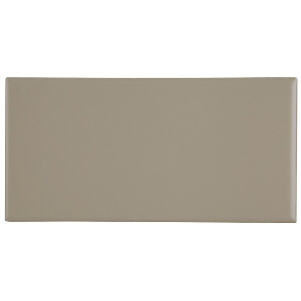 Berkeley 4 x 8 Ceramic Subway Tile in Matte Urban Putty by Itona Tile