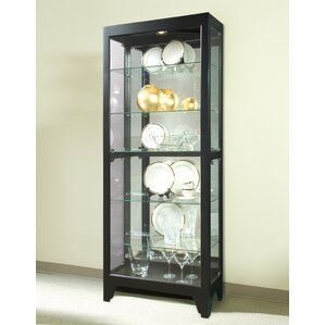 Charndon Lighted Curio Cabinet by Red Barrel Studio