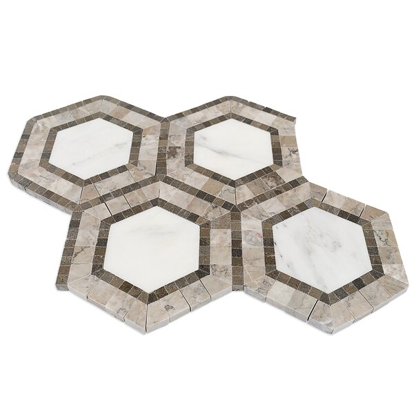 Zeta Random Sized Marble Mosaic Tile in Asian Statuary by Splashback Tile