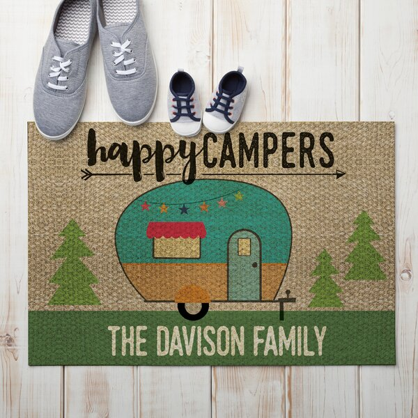 Penning Happy Campers Personalized Doormat by Winston Porter