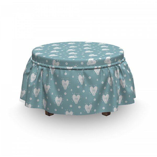 Valentines Day Idea Ottoman Slipcover (Set Of 2) By East Urban Home